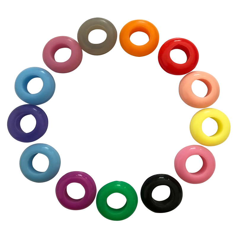 colorful waterproof food grade silicone rubber grommet for straw